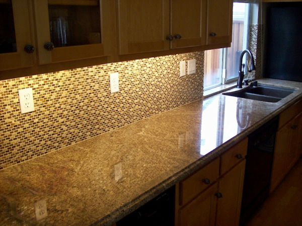 Juparana Tier Kitchen With Full And Tile Backsplash