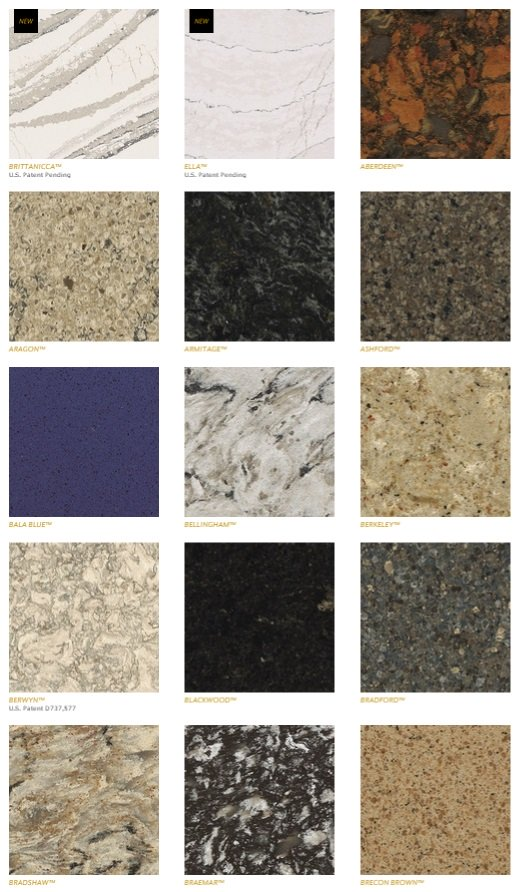 Cambria Kitchen Countertops Colors