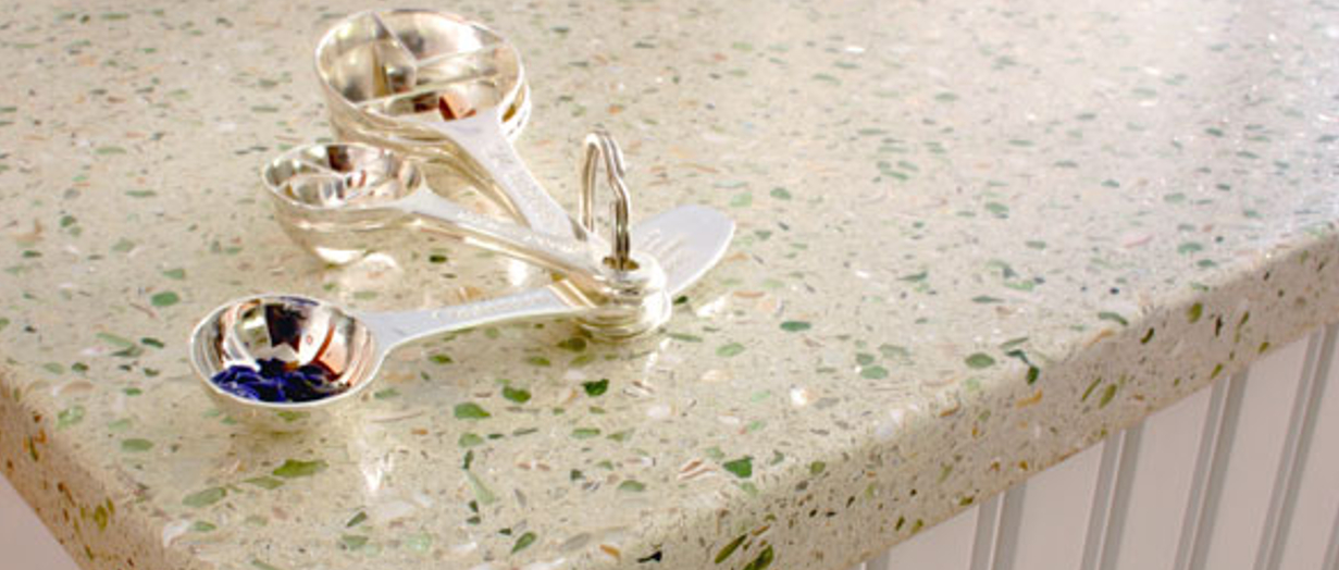Economical And Eco Friendly Recycled Slabs Artistic Stone