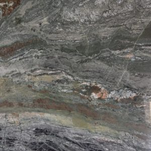 Bella Verde  (Brazil) Green with black and dark brown granite resembles a satellite view of the world. Please call us for pricing for material only and/or installation