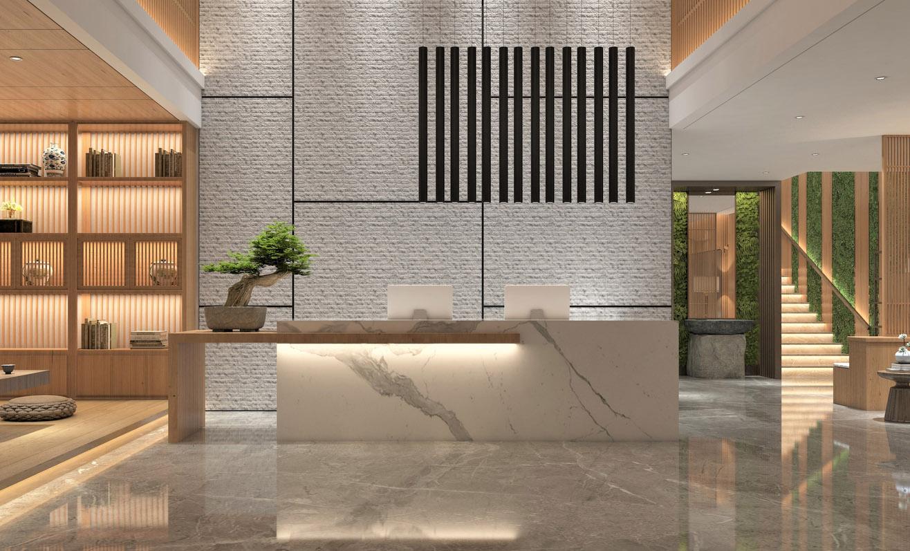 Hotel Countertops Reception Desk Counter Installation